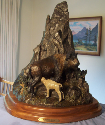 Medicine Rock Bronze Sculpture 2007 16 in
