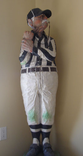 Football Referee Wood Sculpture 1987