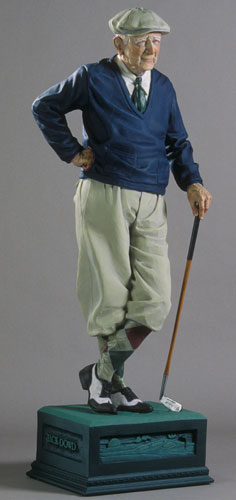 Old Duffer Life Size Golf Sculpture 72 in