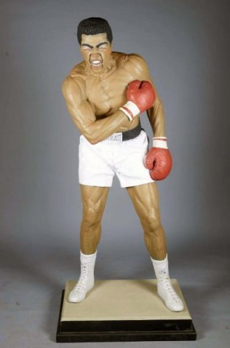 Muhammad Ali Acrylic and Glass Sculpture (Life Size 6ft)