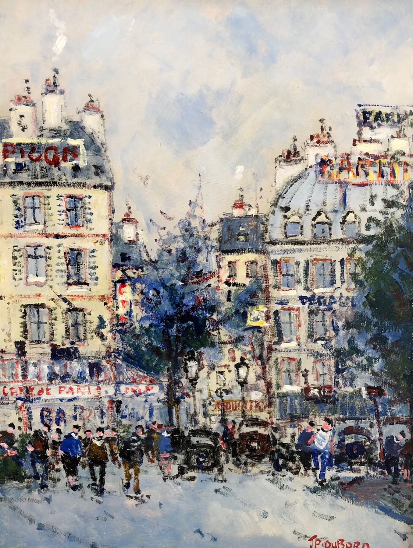 Les Boulevards a Paris 21x18