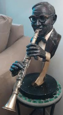 Benny Goodman Bronze Sculpture 1992