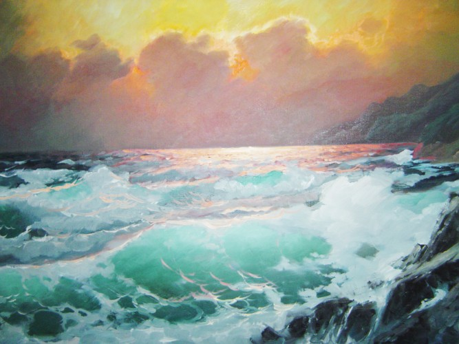 Pacific Sunset, California 1973 30x42
