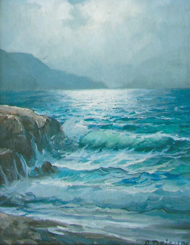 Untitled Seascape 1967 8x10 early work
