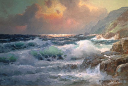 Breakers Over the Rocks 24x36