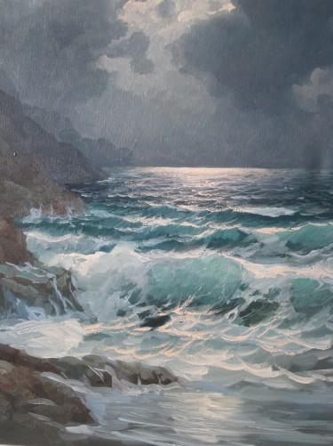 Pacific Moonlight, Carmel  1974 29x25