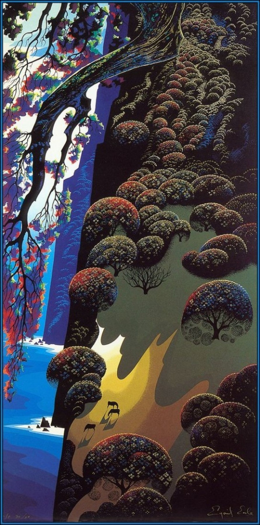 Enchanted Coast 1980  by Eyvind Earle