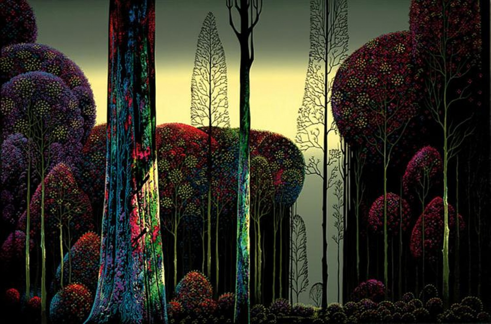 Gothic Forest 1980 AP by Eyvind Earle