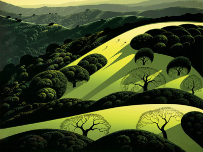 Santa Ynez 2 1985 by Eyvind Earle