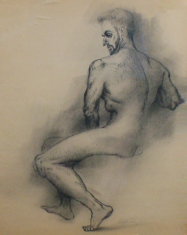 A Man (Early Drawing) 1951 38x32