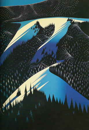 Black Evergreen Forest 1981 by Eyvind Earle