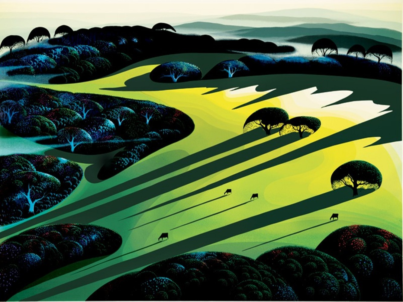 Silent Meadow 1990 by Eyvind Earle