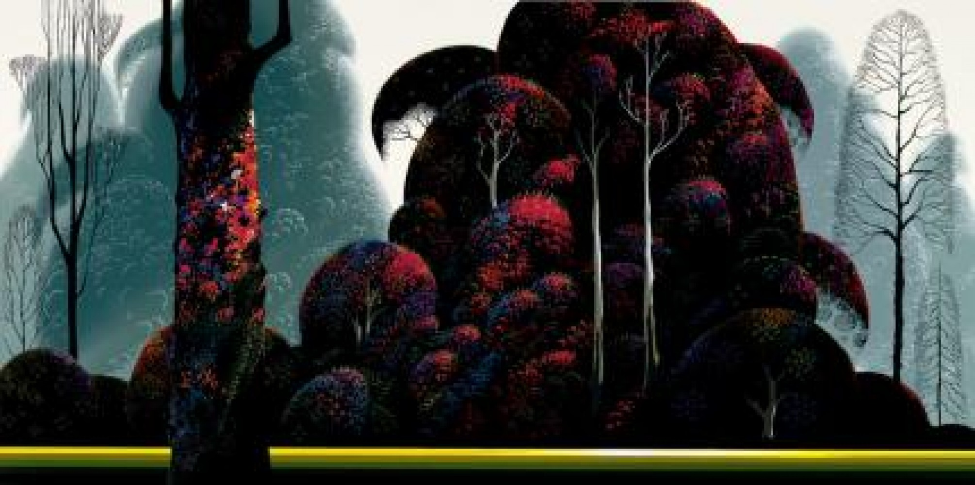 Crimson Eucalyptus 2009 by Eyvind Earle