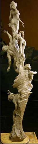 Dreams of Ecstasy Life Size Bronze Sculpture 2009 70 in