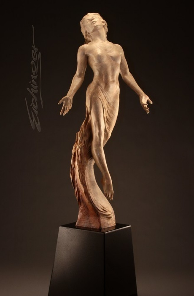 One With the Universe Bronze Sculpture 2010 62 in