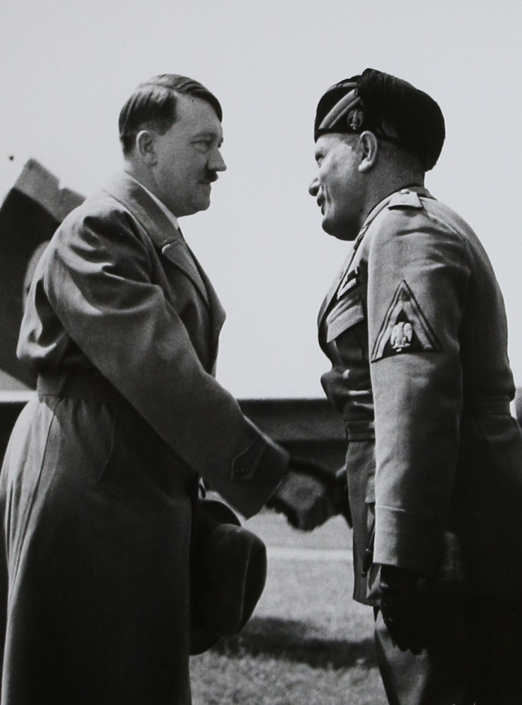 First Meeting of Adolph Hitler & Benito Mussolini, Venice, 1934