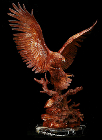 Nesting Site Bronze Sculpture 1984 43 in