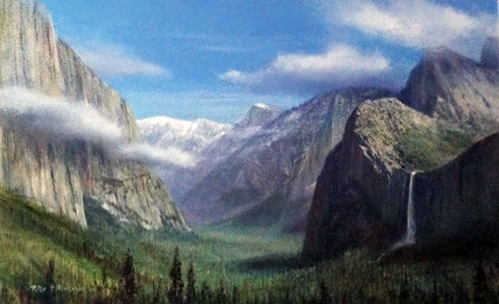 Untitled (Angel Falls at Yosemite Natonal Park) 2000