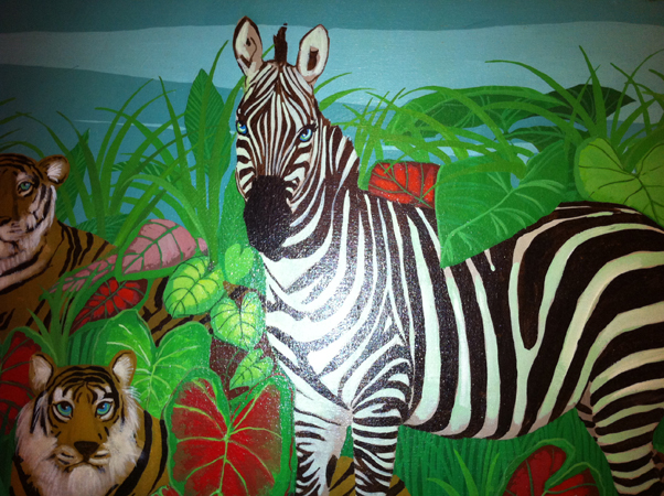 Lonely Zebra 40x50