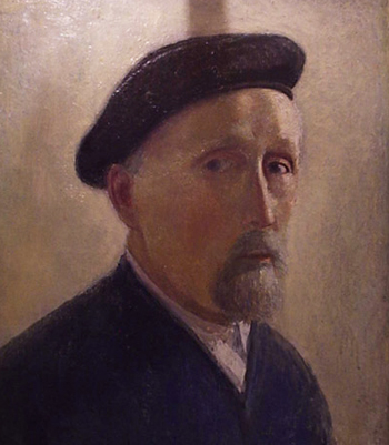 Untitled Self Portrait in Beret 1953 15x12
