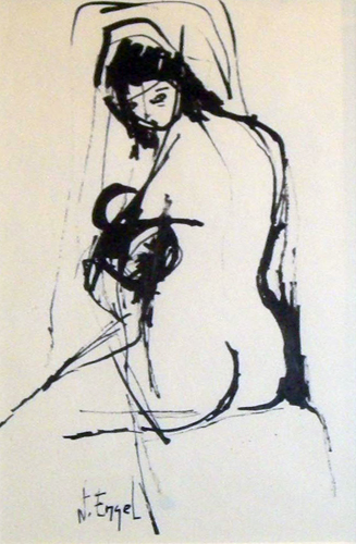 Nude Woman Drawing 8x4