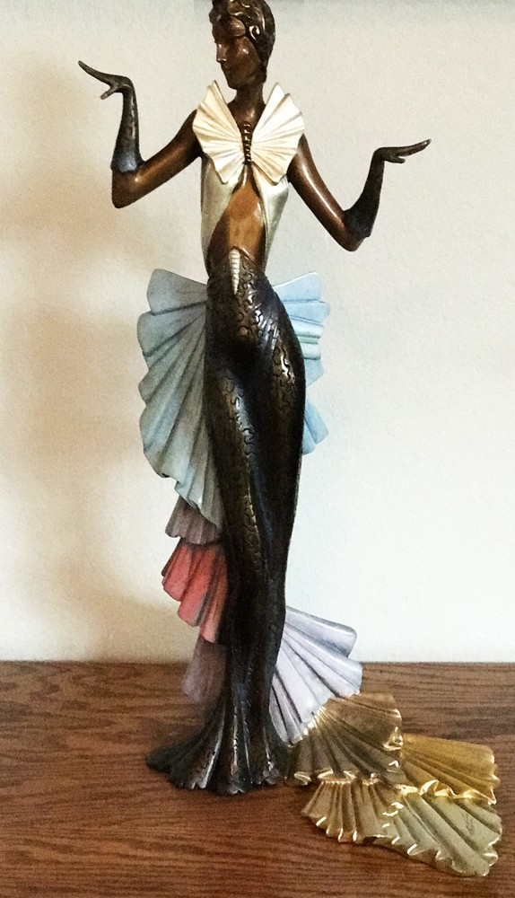 Copacabana Bronze Sculpture 1990 18 in