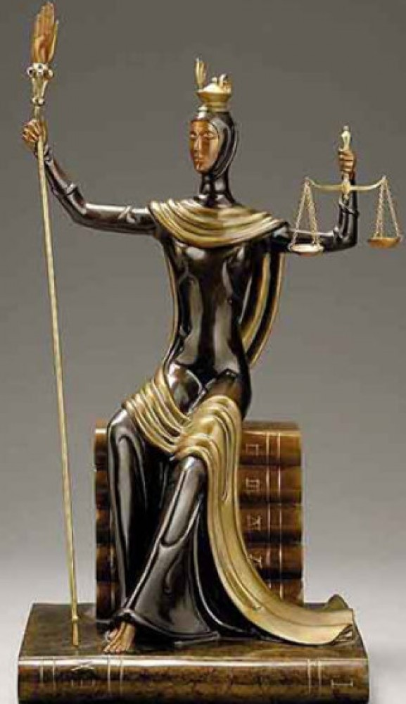 Justice Bronze Sculpture 1984 19 in