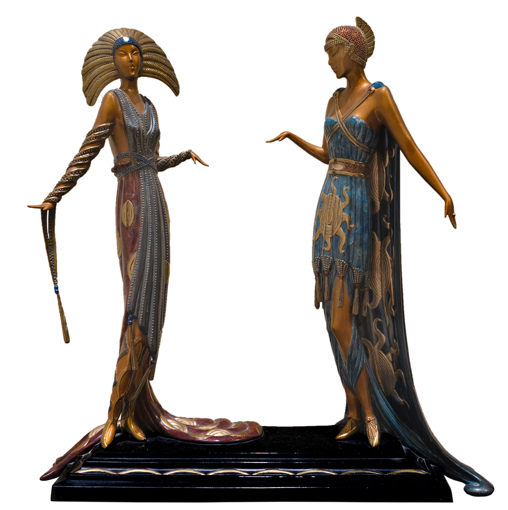 Two Vamps Bronze Sculpture 19 in