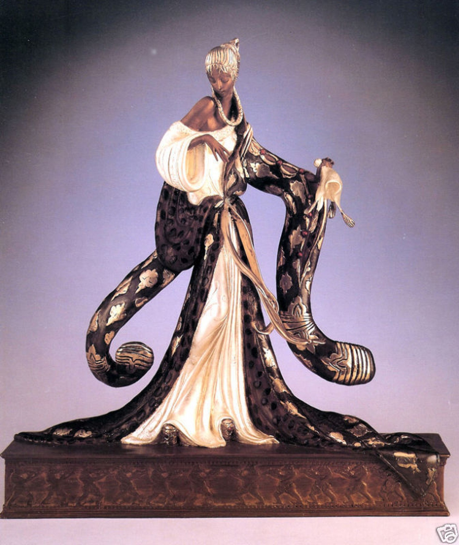 Rigoletto Bronze Sculpture  1988 19 in  by  Erte