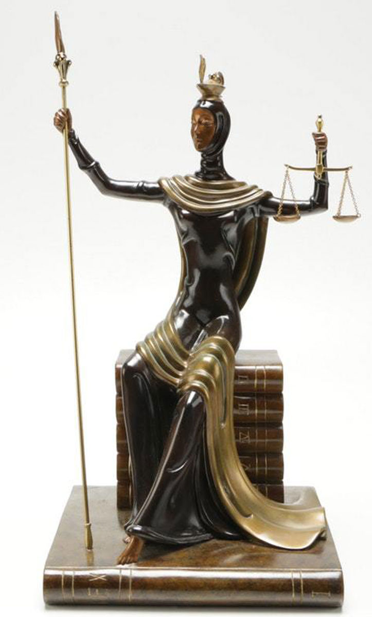 Justice Bronze Sculpture 1984 17 in
