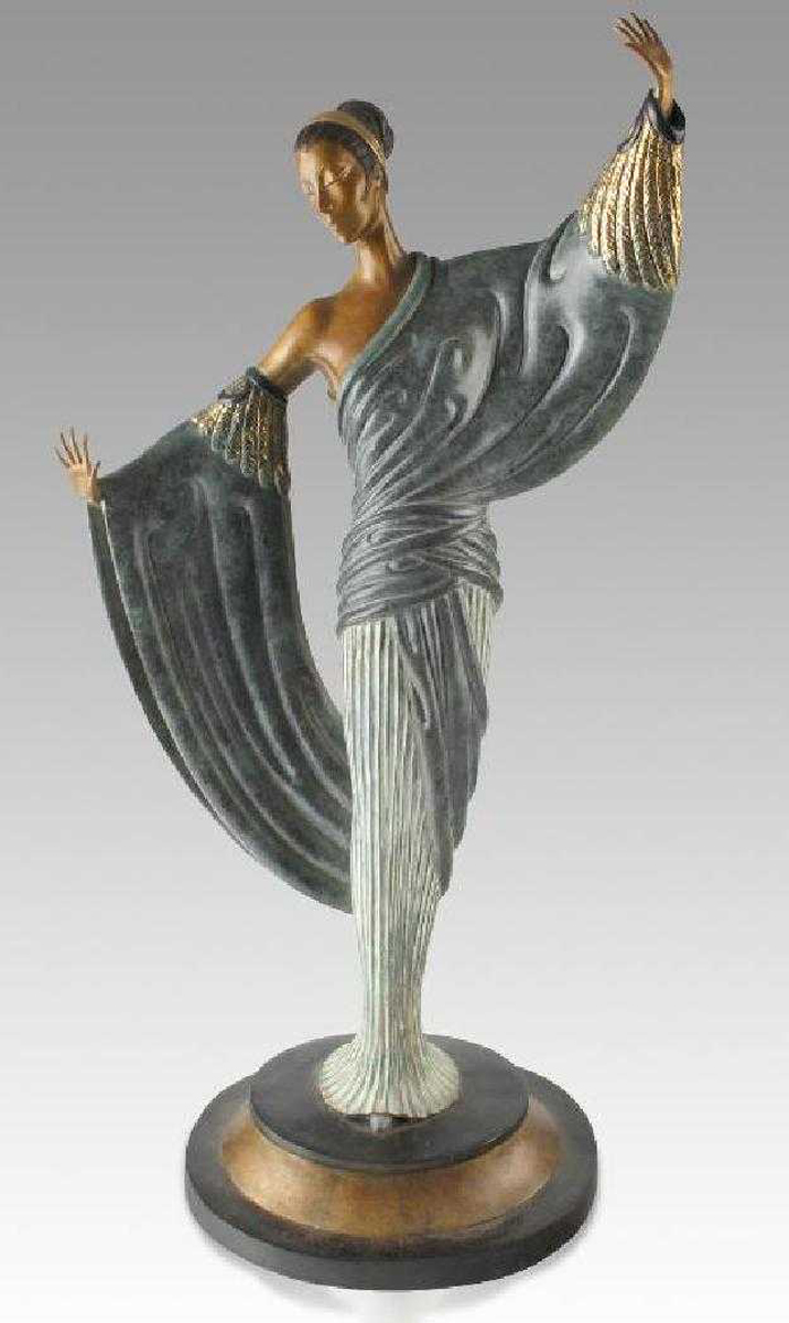 In the Evening Bronze Sculpture 1984 20 in