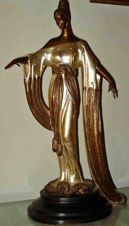 Negligee Bronze Sculpture 1984