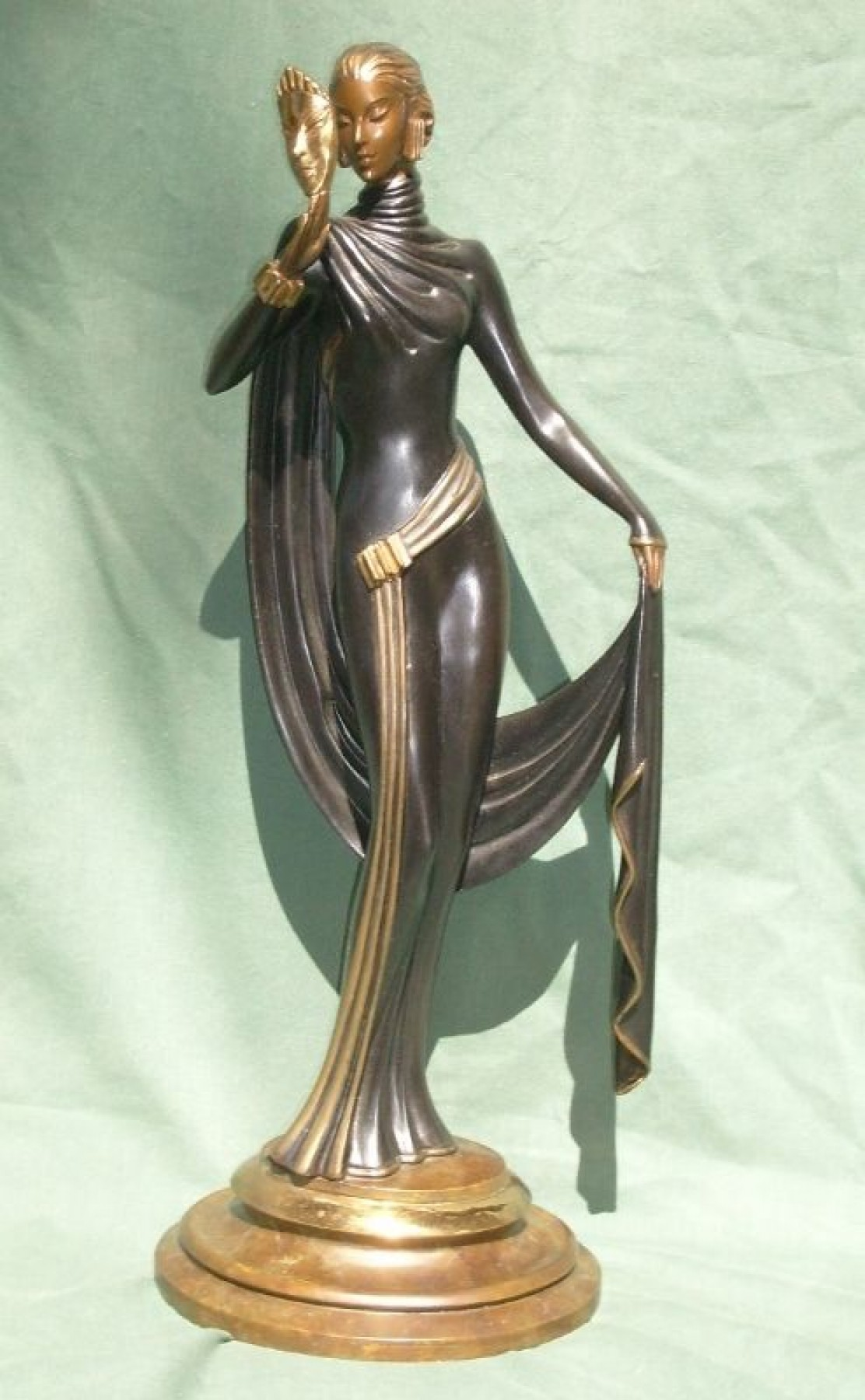 Le Masque Bronze Sculpture 1986 18 in