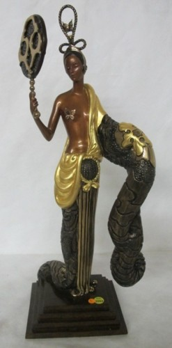 Bamboo Bronze Sculpture 1989 22 in
