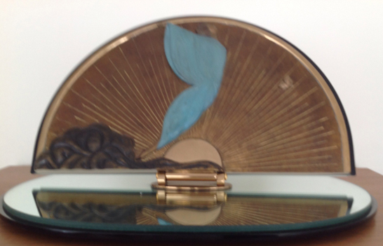 Transcendence Bronze Table Mirror 1984