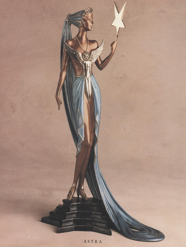 Astra Bronze Sculpture 1988 19 in