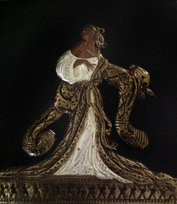 Rigoletto Bronze Bas Relief Sculpture 1988