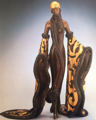 Mystic Bronze Sculpture 1988 by  Erte