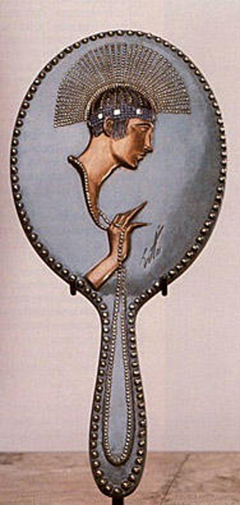Pearls Bronze Hand Mirror 1985