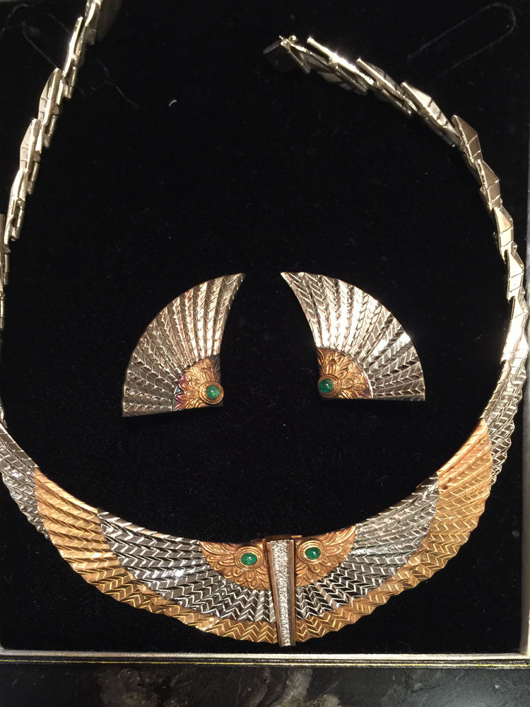 Nile Gold Necklace And Earrings 1980