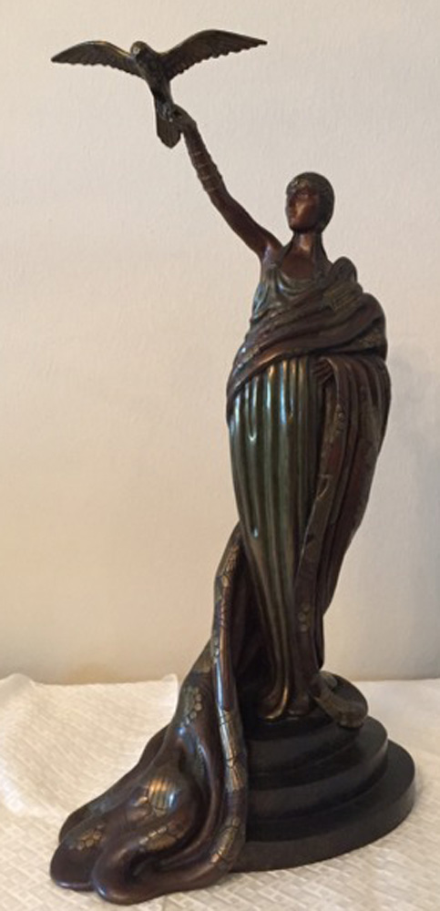 Victoire Bronze Sculpture 1980 18 in
