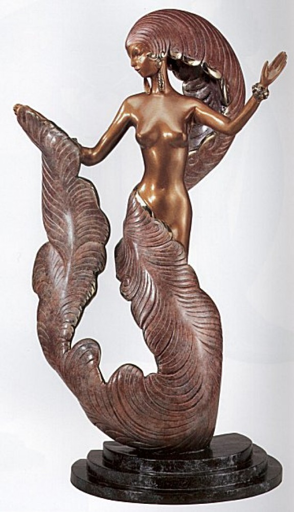 Folies Bergere Bronze Sculpture 1987