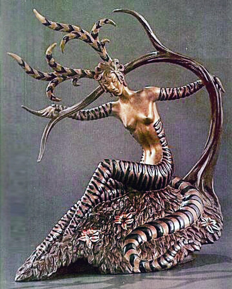 Hunting Bronze Sculpture 1985