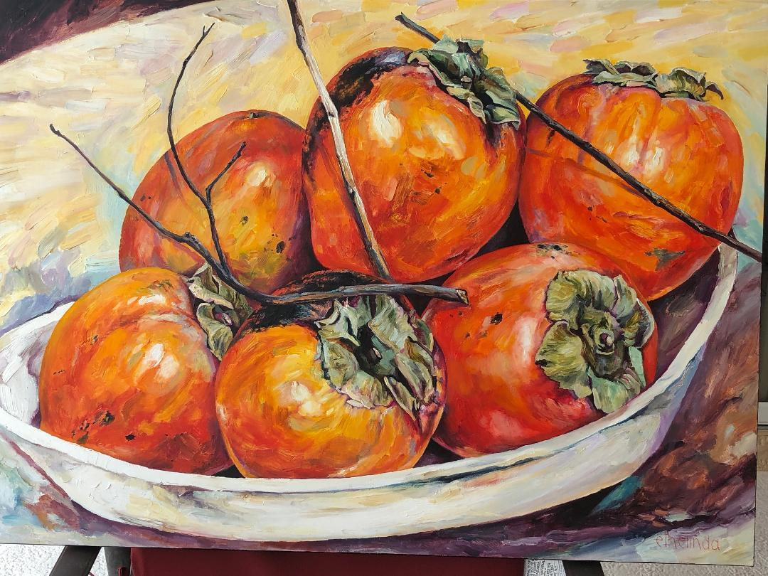 Persimmons 30x40