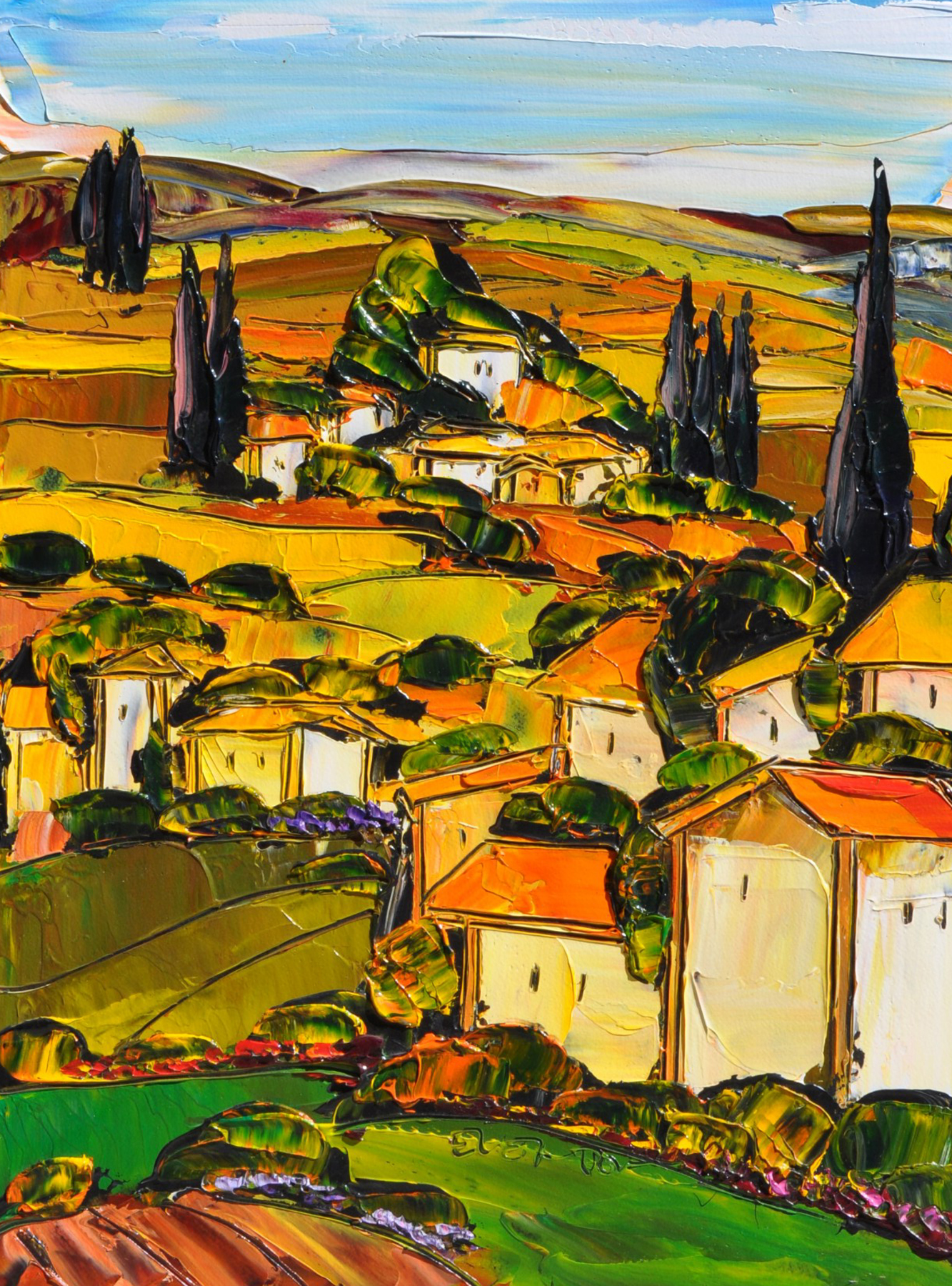 Untitled Tuscan Landscape 34x27