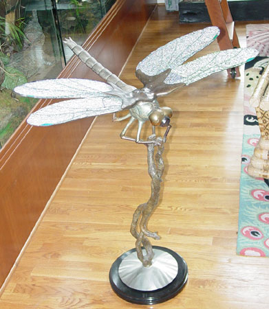 Dragonfly Bronze Sculpture AP 36 in