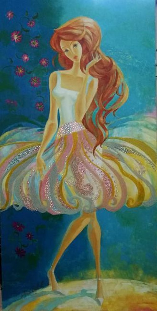 Beauty and the Beach 2007 48x24 by Alina Eydel