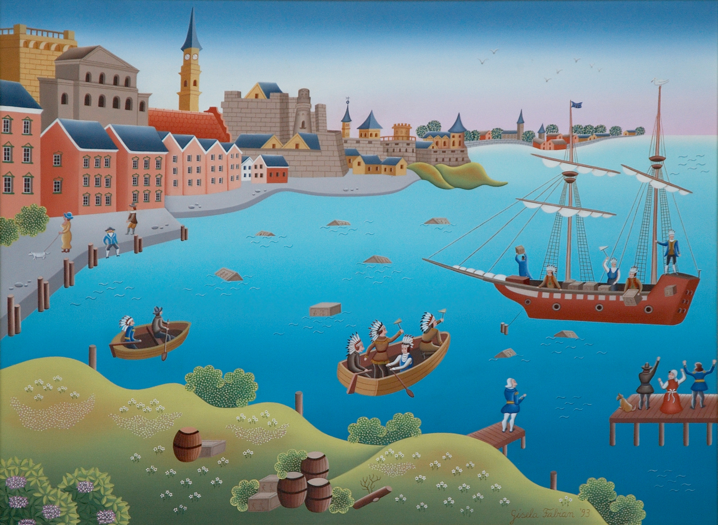 Boston Tea Party 1993 22x28