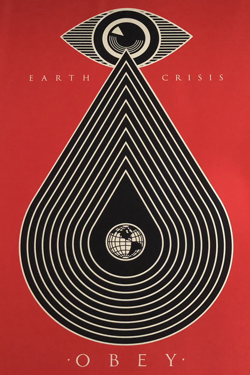 Obey Giant Earth Crisis - Red 2014 by Shepard Fairey