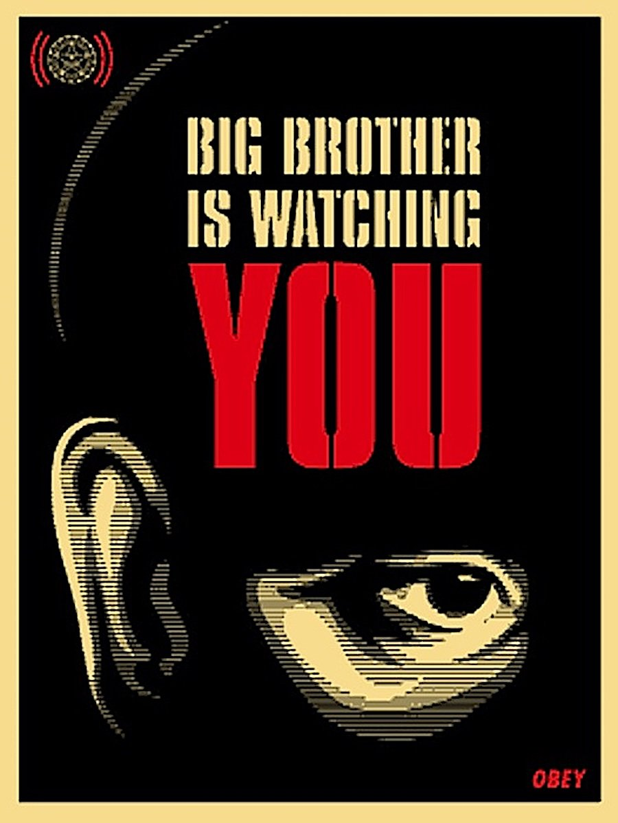 Big Brother is Watching You 2006 by Shepard Fairey
